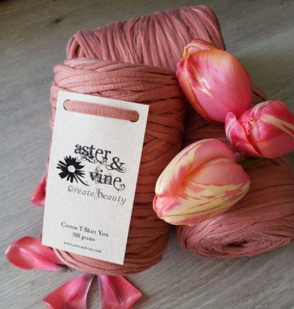 Cotton t-shirt yarn for crochet macrame weaving