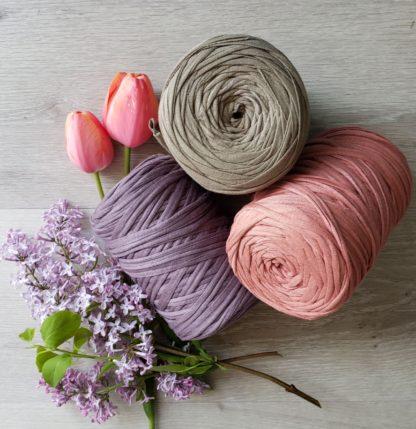 Cotton t-shirt yarn for macrame weaving crafts