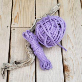 Hand felted wool rope weaving