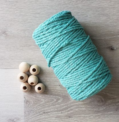 Round wooden beads for macrame