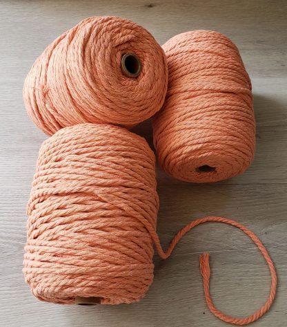 Coral cotton macrame cord