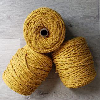 Mustard cotton macrame cord