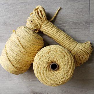 Sunshine Yellow cotton macrame cord