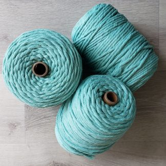 Mint recycled cotton rope macrame cord
