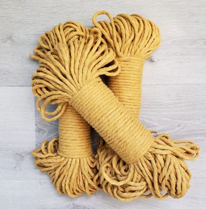 Harvest gold recycled cotton rope