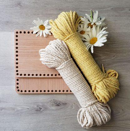 Square wooden basket bottom