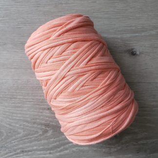 Fuzzy peach t-shirt yarn