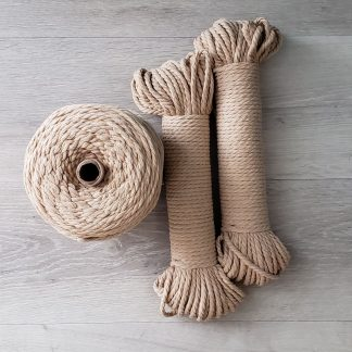 Sand recycled cotton rope