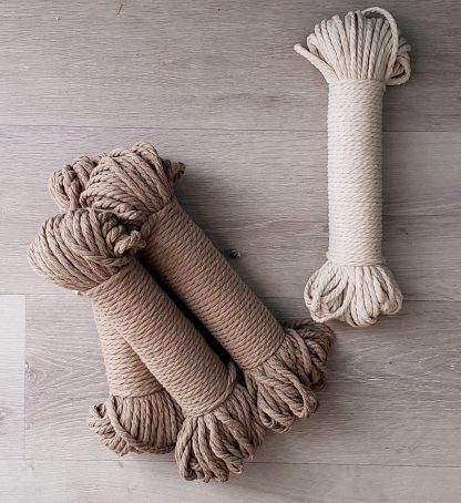 Linen and natural recycled cotton rope