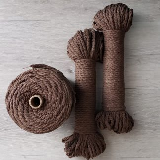 Espresso recycled cotton rope