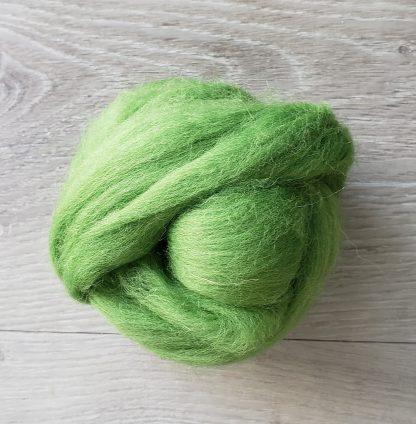 Apple green wool roving