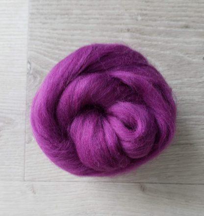 Dark purple wool roving
