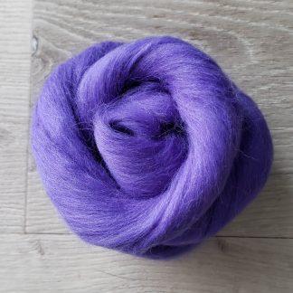 Periwinkle wool roving