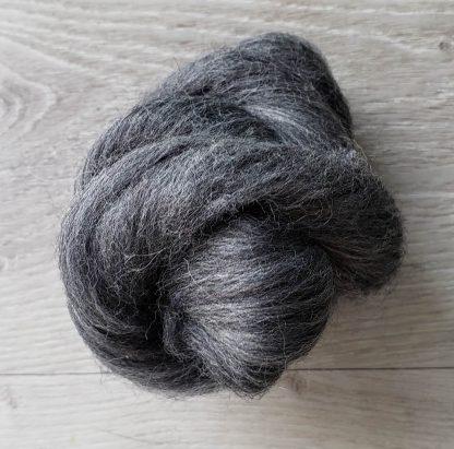 Dark grey wool roving