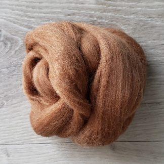 Light brown wool roving