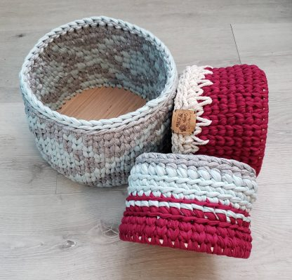 Collection of t-shirt yarn baskets