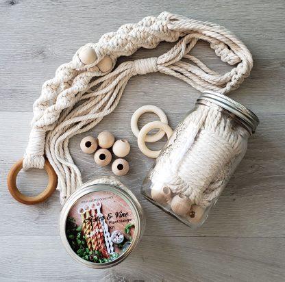 Macrame spiral plant hanger kit