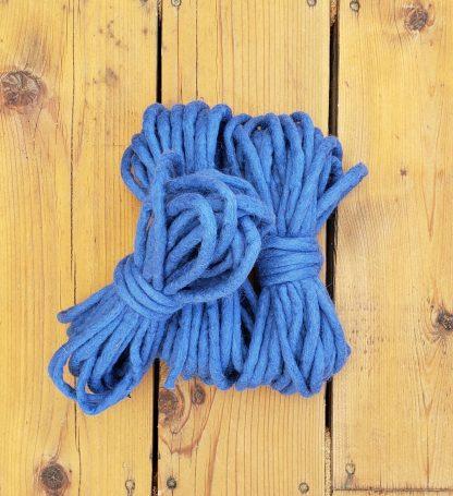 Medium blue wool rope