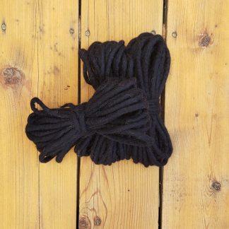 Black wool rope
