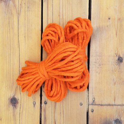 Neon orange wool rope