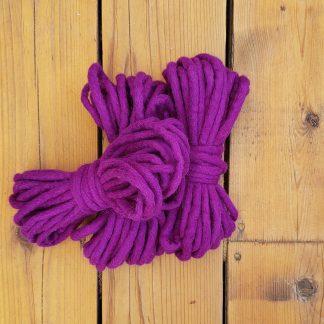 Deep purple wool rope