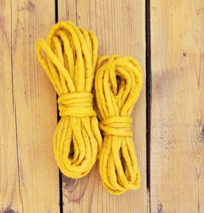 Mustard wool rope
