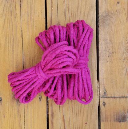 Bright pink wool rope