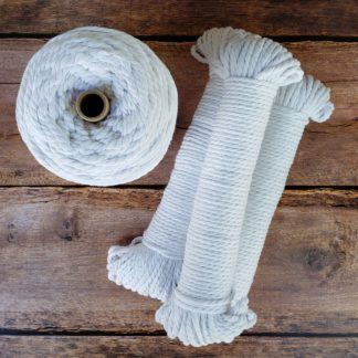 White recycled cotton rope