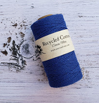blue 1.5mm cotton rope