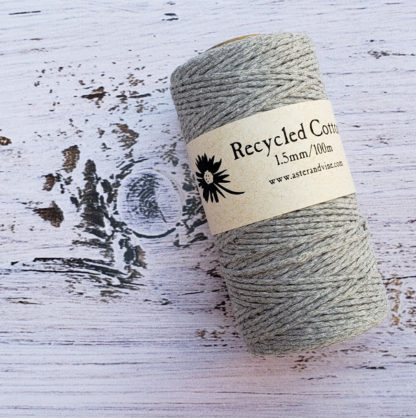 grey 1.5mm cotton rope