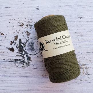 khaki 1.5mm cotton rope
