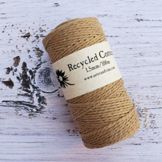 light brown 1.5mm cotton rope