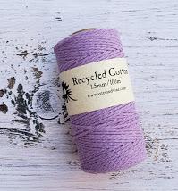 light purple 1.5mm cotton rope