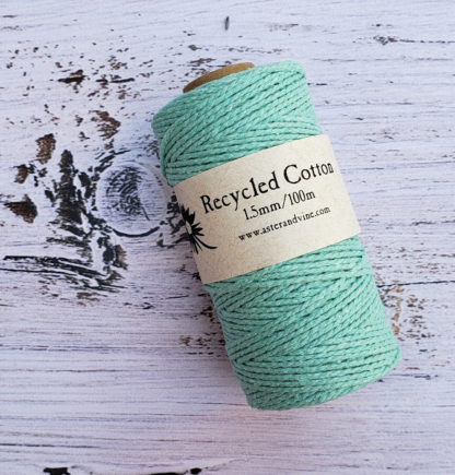 light turquoise 1.5mm cotton rope