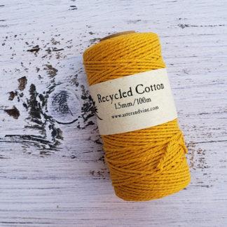 mustard 1.5mm cotton rope