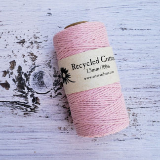 light pink 1.5mm cotton rope