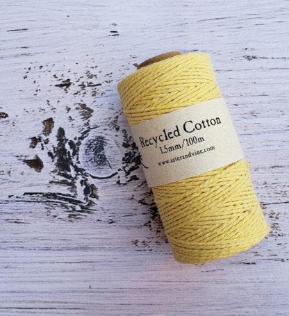 light yellow 1.5mm cotton rope