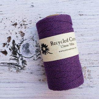 purple 1.5mm cotton rope