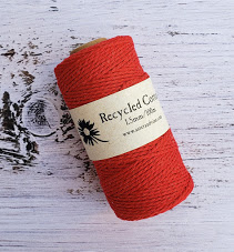 red 1.5mm cotton rope