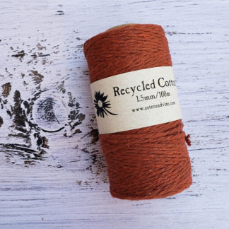 rust 1.5mm cotton rope