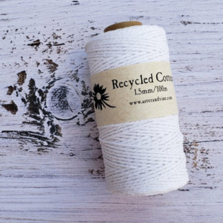 white 1.5mm cotton rope
