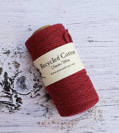 wine 1.5mm cotton rope