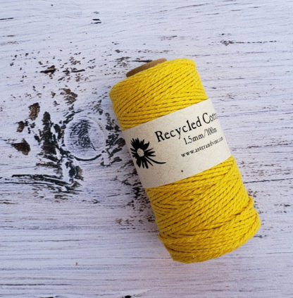 yellow 1.5mm cotton rope
