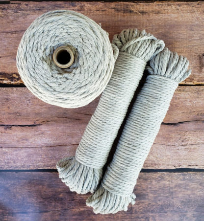 Silver recycled cotton rope