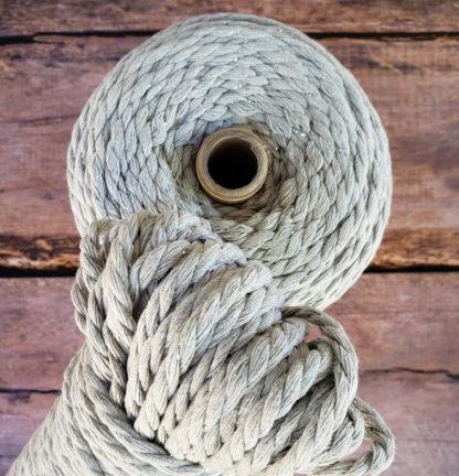Silver macrame rope