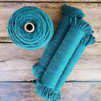 Teal macrame rope
