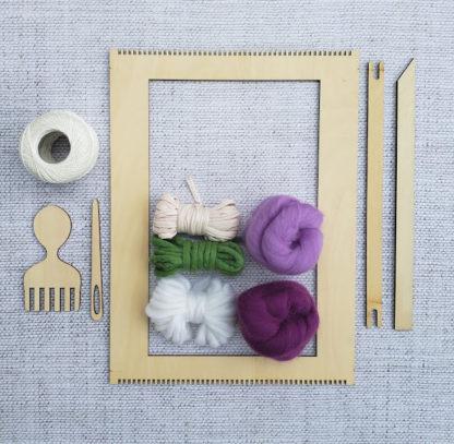 Rectangular weaving loom