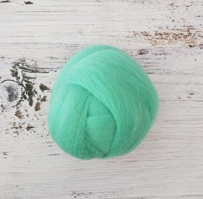 Aqua wool roving