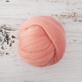 Dusty rose wool roving