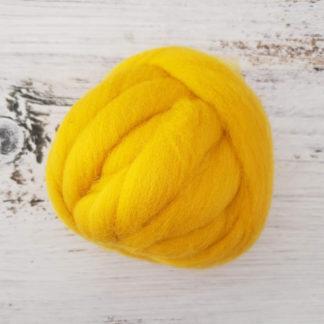 Mustard wool roving
